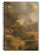 Fox Hunting In Hilly Country Spiral Notebook