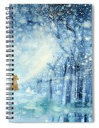 Foxes In The Snow Spiral Notebook