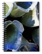 Foxglove Expressive Brushstrokes Spiral Notebook