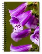 Foxglove Flower Spiral Notebook
