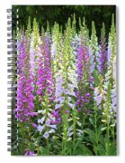 Foxglove Garden In Golden Gate Park Spiral Notebook