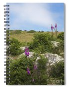 Foxgloves And Cows Spiral Notebook