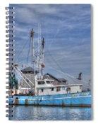 Shrimp Boat At Port Spiral Notebook