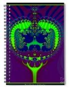 Fractal 25 Emerald Crown Jewels Spiral Notebook