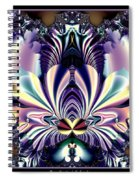 Fractal 26 Jeweled Tone Lotus Flower Spiral Notebook