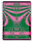 Fractal 34 Kimono In Pink And Green Spiral Notebook