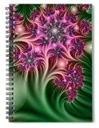 Fractal Abstract Dreamy Garden Spiral Notebook