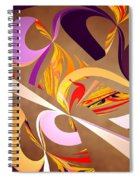 Fractal - Abstract - Space Time Spiral Notebook