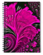 Fractal Flowers Spiral Notebook