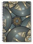Fractal Art Deco  Spiral Notebook