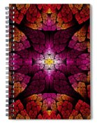Fractal - Aztec - The All Seeing Eye Spiral Notebook