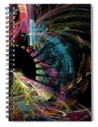 Fractal - Black Hole Spiral Notebook