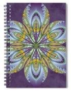 Fractal Blossom Spiral Notebook