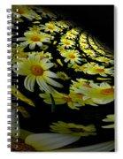 Fractal Daisies Spiral Notebook