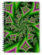 Fractal Dancing Shapes Spiral Notebook