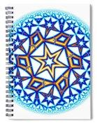 Fractal Escheresque Winter Mandala 1 Spiral Notebook