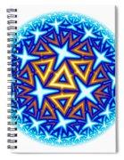 Fractal Escheresque Winter Mandala 10 Spiral Notebook