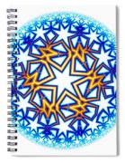 Fractal Escheresque Winter Mandala 2 Spiral Notebook