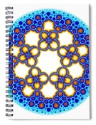 Fractal Escher Winter Mandala 3 Spiral Notebook