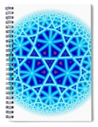 Fractal Escheresque Winter Mandala 4 Spiral Notebook