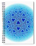 Fractal Escher Winter Mandala 5 Spiral Notebook
