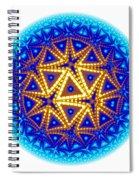 Fractal Escheresque Winter Mandala 6 Spiral Notebook