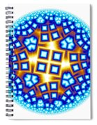 Fractal Escheresque Winter Mandala 9 Spiral Notebook