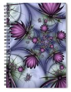 Fractal Fantasy Butterflies Spiral Notebook
