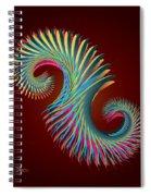 Fractal Feather Spiral Spiral Notebook