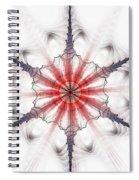 Fractal Flake Spiral Notebook