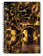 Fractal Flooding Spiral Notebook