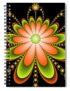 Fractal Floral Decorations Spiral Notebook