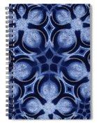Fractal Floral Pattern Spiral Notebook