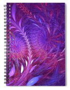 Fractal Flower Fields Spiral Notebook