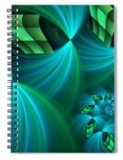 Fractal Gently Worn Spiral Notebook