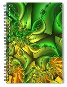 Fractal Gold And Green Together Spiral Notebook