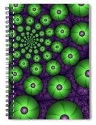 Fractal Green Shapes Spiral Notebook