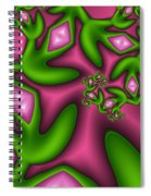 Fractal Happy Jewels Spiral Notebook
