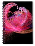 Fractal - Heart - Lets Be Friends Spiral Notebook