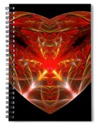 Fractal - Heart - Open Heart Spiral Notebook