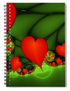Fractal Hearts In The Discothec Spiral Notebook