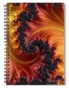 Fractal Heat - A Fractal Abstract Spiral Notebook