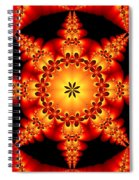 Fractal In The Centre Spiral Notebook