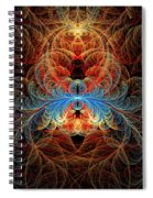 Fractal - Insect - Black Widow Spiral Notebook