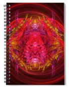 Fractal - Insect - Jeweled Scarab Spiral Notebook