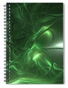 Fractal Living Green Metal Spiral Notebook