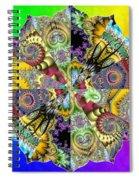 Fractal Lotus Zodiac Spiral Notebook