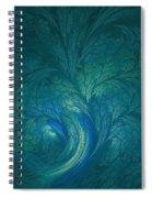 Fractal Marine Blue Spiral Notebook