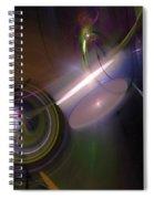 Fractal Multi Color Spiral Notebook