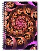 Fractal Multicolored Depth Spiral Notebook